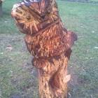 Eule auf Wurzel, vorbereitet für indierekte Beleuchtung, Skulptur, Kettensäge, Berlin , Brandenburg, geschnitzt, Handmade, Holz