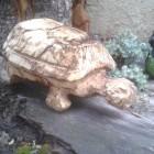 Schildkröte auf Weg, Skulptur, Kettensäge, Berlin , Brandenburg, geschnitzt, Handmade, Holz