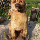 Hund, Schärferhund, Skulptur, Kettensäge, Berlin , Brandenburg, geschnitzt, Handmade, Holz