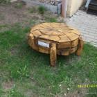 Schildkröte als Tisch, Skulptur, Kettensäge, Berlin , Brandenburg, geschnitzt, Handmade, Holz