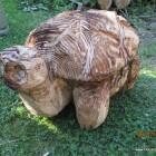 Schildkröte, Skulptur, Kettensäge, Berlin , Brandenburg, geschnitzt, Handmade, Holz