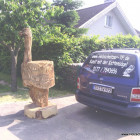 Strauß 250 cm, Skulptur, Kettensäge, Berlin , Brandenburg, geschnitzt, Handmade, Holz