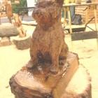 Hund klein süß, Westi, Yorkscher , Skulptur, Kettensäge, Berlin , Brandenburg, geschnitzt, Handmade, Holz