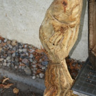 springender fisch , Skulptur, Kettensäge, Berlin , Brandenburg, geschnitzt, Handmade, Holz